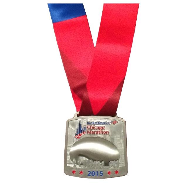 Chicago Marathon 2015 finishers medal