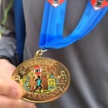 Des Moines Marathon medal