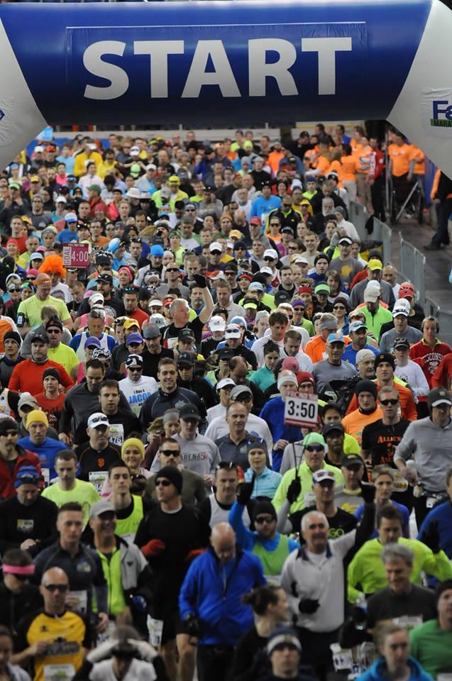Fargo Marathon start line