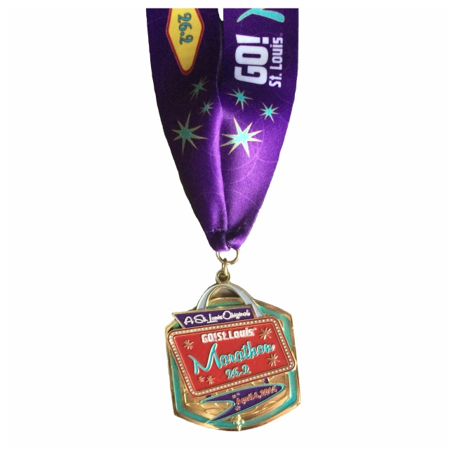 GO St Louis Marathon 2014 finishers medal