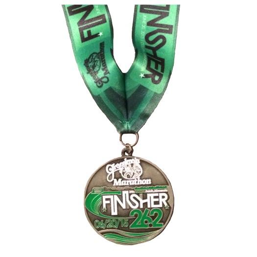 Grandmas Marathon 2015 finishers medal