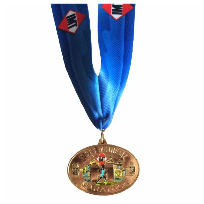 IMT Des Moines Marathon 2013 finishers medal