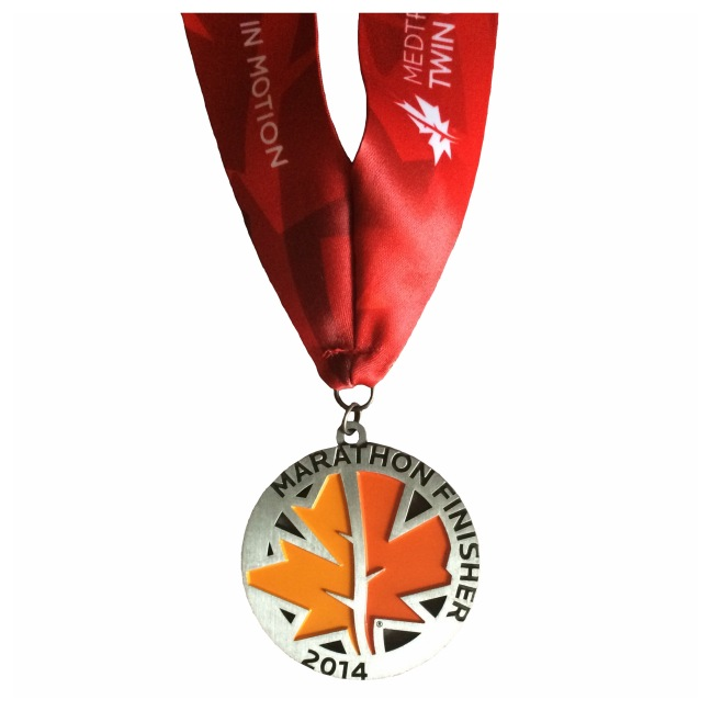 Medtronic Twin Cities Marathon 2014 finishers medal