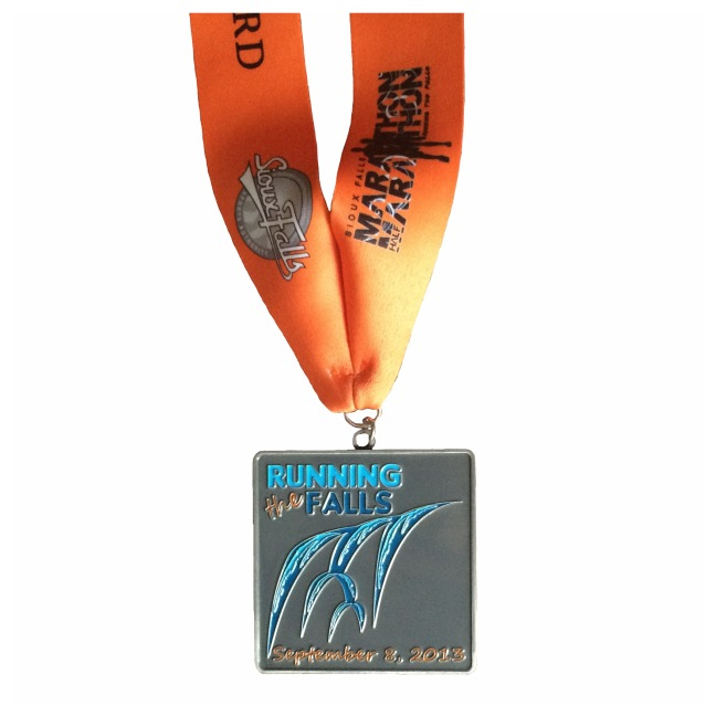 Sioux Falls Marathon 2013 finishers medal