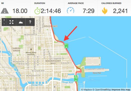18 mile run April 9 2016