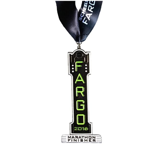 2016 Fargo Marathon finishers medal